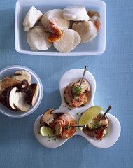 Scallop brochettes