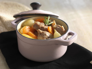Meat stew with carrots and potatoes