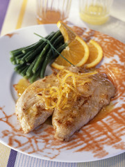 Turkey escalopes with honey