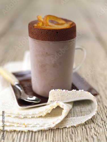 Iced chocolate soufflé