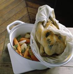 Poulard hen with mead