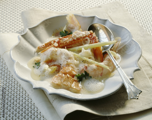 Dublin Bay prawn and citronella chowder