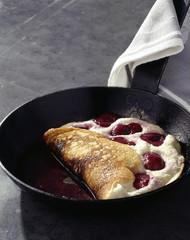 Sweet cherry omelette