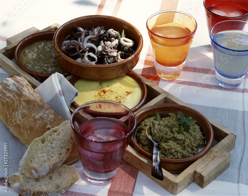Assorted dips for Tapas