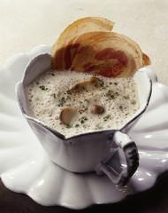 Creamy mushroom cappuccino
