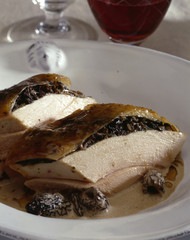 Capon breast with morels