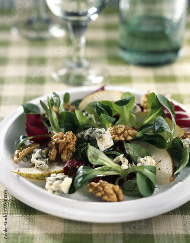 Lamb's lettuce and pear salad