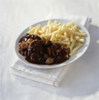 Boeuf bourguignon with macaronis