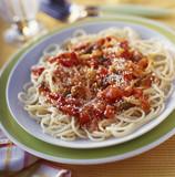 Spaghettis with tomato sauce