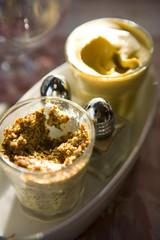 Pots of mustard