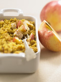 Apple and chicken crumble