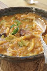 Italian-style rustic tomato soup