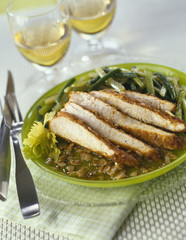 turkey breasts with crushed almond crust