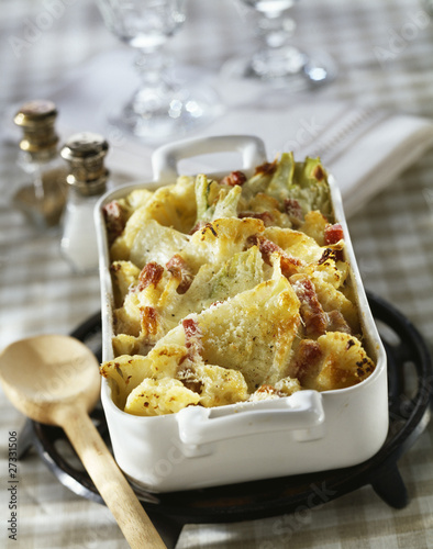 fennel and cauliflower au gratin