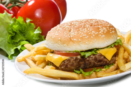 hamburger with vegetables - 27331546