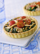 Tuna,tomato and spinach tartlet