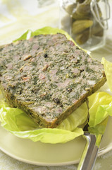 Pork and herb terrine