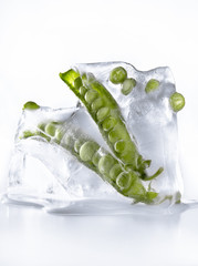 Peas in ice