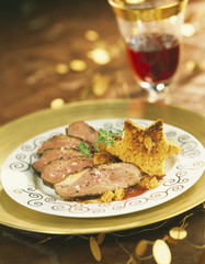 Duck Magret with gingerbread