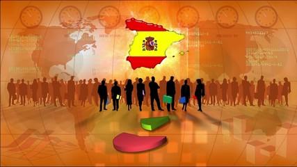 Work team Spain, statistics orange