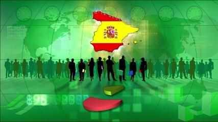 Work team Spain, statistics green