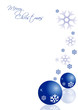 Bigl auguri natale blu neve e palle