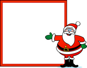 Santa Claus wih sign