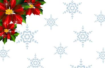 Stelle di natale con fiocchi di neve s. bianco