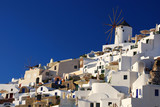 Oia windmill in island of Thira (Santorini - Cyclades), Greece