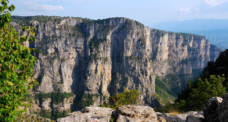 Vikos Aoos canyon in Zagoria, Greece