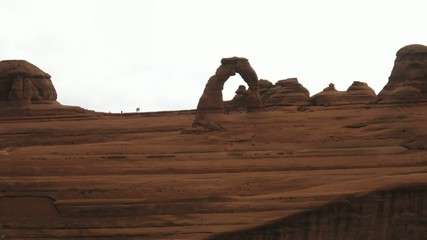 Time lapse clouds over Delicate Arch, Arches National Park