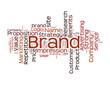 Brand word collage on white background