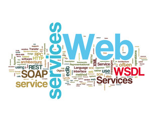 Web Services Word Tags on white background