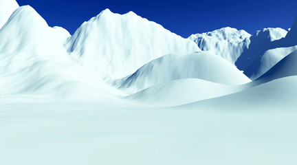 beautiful glacial landscape