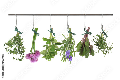Fototapeta Herbs Hanging and Drying