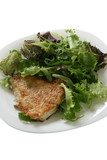 fried flounder with salad poster