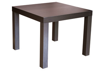 Square wenge wood table