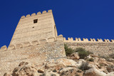 Embattled tower and wall in the moorish fortress of Almeria