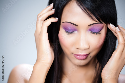femme asiatique portrait beauté