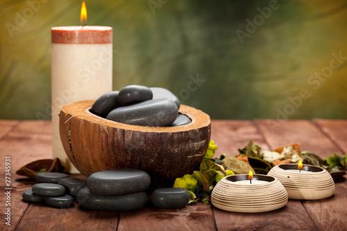 Spa treatment - massage stones