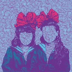 background with sisters. vector illustration