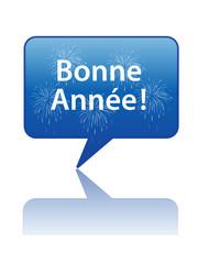 """Icône Bulle """"BONNE ANNEE"""" (carte voeux nouvel an bonne année)"""