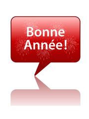 """Icône Bulle """"BONNE ANNEE"""" (nouvel an janvier année carte voeux)"""