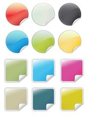 Glossy web 2.0 stickers