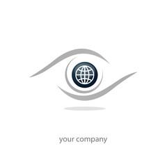 logo entreprise, icône monde