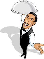 Waiter cartoon