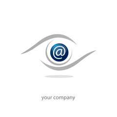 logo entreprise, icône e-mail, web