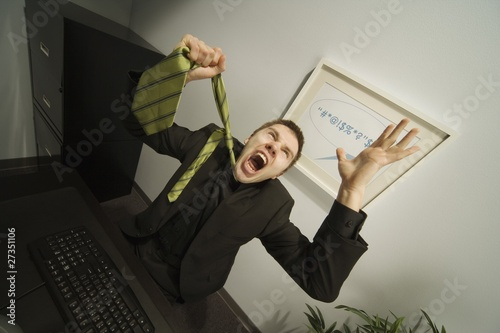 Businessman Frustrated In Office