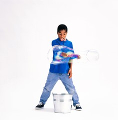Boy Making Bubbles