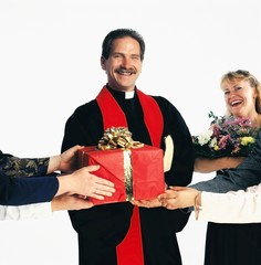 Priest Receiving Gifts